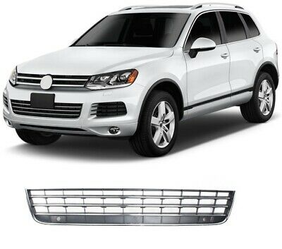 Vw Touareg 2011-2014 Front Lower Centre Bumper Grille Black With Chrome Moulding • 71.97£