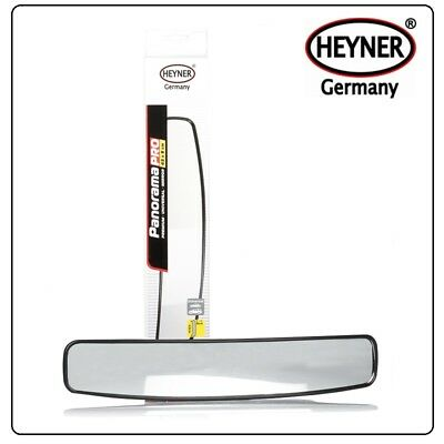 Rear View Panoramic Mirror WIDE ANGLE Car Van Taxi 430mm Large Size EASY FIXING • 10.97£