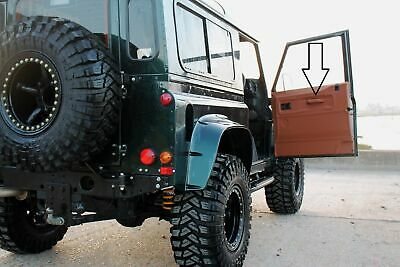 Tan Leather Door Grab/Pull Handles Tan Stitch Fit Land Rover Defender 90 110 • 64.80£