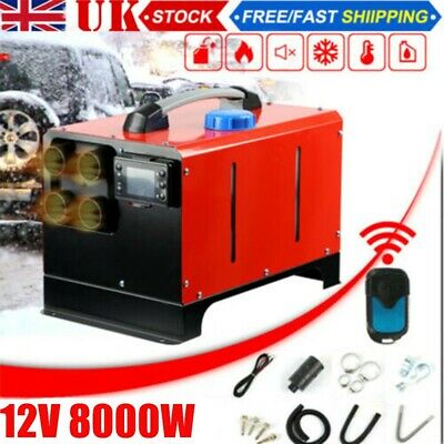 12V 5KW Diesel  Air Night Heater LCD Monitor Remote Trucks Boats Car Home • 95.99£
