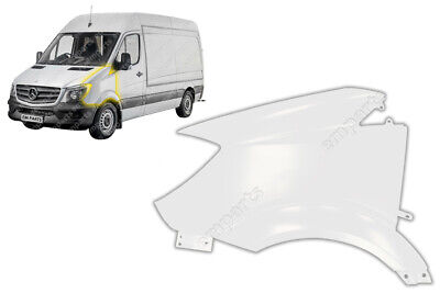 Front Wing Panel For Mercedes Sprinter Near Side Lh N/s 2014 - 2018 White • 125£