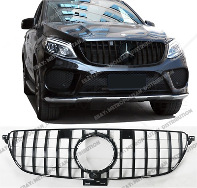 Mercedes C292 AMG GT R Panamericana Grille,GLE Coupe,63 S Look,FULL GLOSS BLACK • 139£