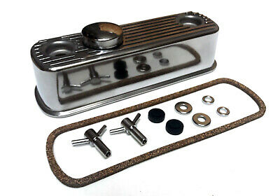 Classic Mini A Series Engine Polished Alloy Rocker Cover & Cap + T Bar Kit Y3744 • 59.67£