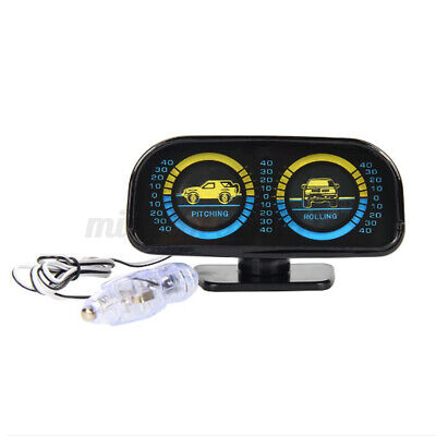 Angle Rotated Car Inclinometer Two Barreled Off Road Backlight Accessories Slope • 15.90£