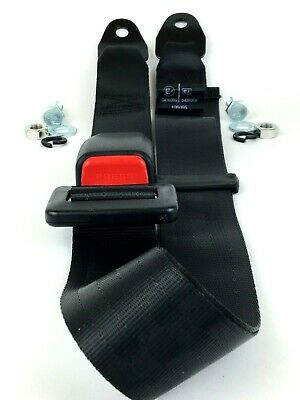Universal 2 Point Adjustable Seat Belt | Car Harness Safety Lap Strap | E Marked • 9.99£