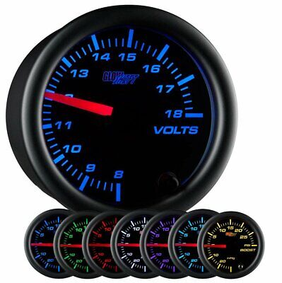GlowShift Black 7 Color Volt Gauge • 36.44£