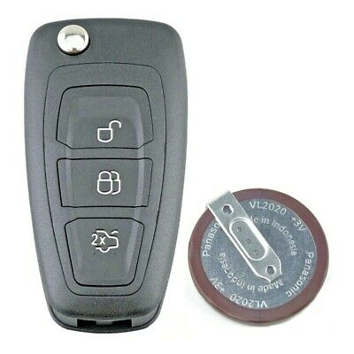 For Ford Transit Custom 3 Button Remote Key Fob Case Repair Kit + Battery VL2020 • 9.75£