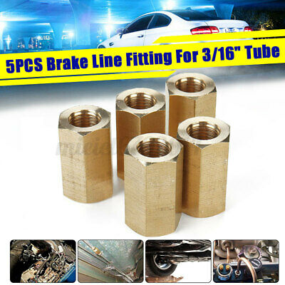 5pc X 3/16  Brake Line Pipe Inline Connector Coupler  • 9.49£