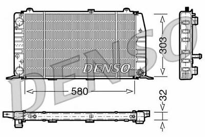 Denso Engine Cooling Radiator For An Audi 90 Saloon 1.6 59kw • 71.11£