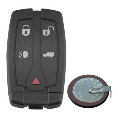 5 Button Remote Key Fob Shell + Battery For Land Rover Freelander 2 2006 - 2014 • 10.99£