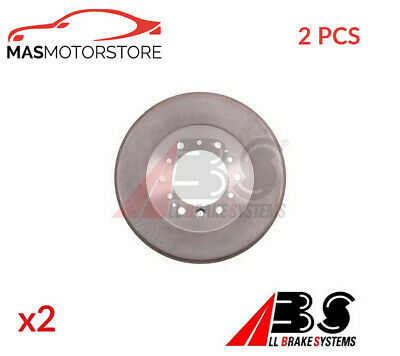 Brake Drum Pair Set Rear Abs 2636-s 2pcs P New Oe Replacement • 136.95£