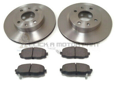 Front 2 Brake Discs And Pads Set New For Kia Picanto Mk1 1.0 1.1 1.1d 2004-2010 • 44£