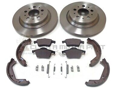 Volvo V70 2000-2007 Rear Brake Discs And Pads & Hand Brake Shoes + Fitting Kit • 70£