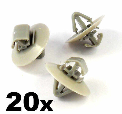 20x Clips For Renault Trafic Traffic Side Moulding / Lower Protection Door Trim • 3.09£