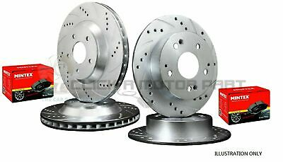 VW GOLF MK5 2.0 TDi GTi DSG FRONT AND REAR DRILLED GROOVED BRAKE DISCS AND PADS • 200£