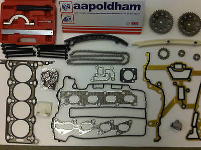 Vauxhall Corsa Astra 1.2 1.4 Twinport Head Gasket Set + Timing Chain Kit +tools • 119.95£