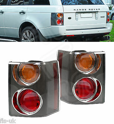 Range Rover Vogue L322 '02-'09 Rear Tail Light Cluster Pair Carbon Amber/red • 139.99£