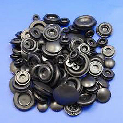 60 X ASSORTED BLANKING GROMMET PLUG  6 9 12 16 20 25mm CLOSED HOLE BUNG STOPPER • 5.71£