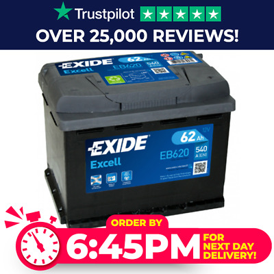 High Power Exide 027SE Car Van Battery EB620 - 3 Year Warranty - Next Day Delive • 48.59£