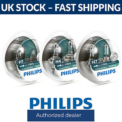 H1 H4 H7 - Philips Xtreme Vision +130% Headlight Bulbs Fittings Here • 21.99£