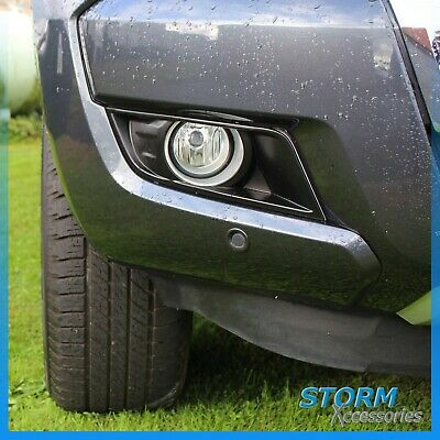 Stx Round Fog Light Cover Surrounds In Black For Ford Ranger T6 2016 On  - Pair • 27.75£