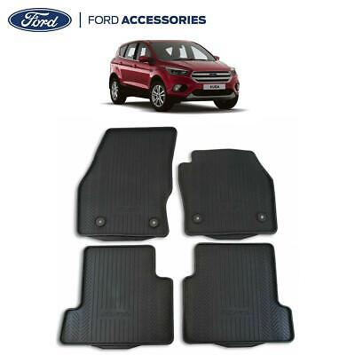 Genuine Ford Kuga Mk2 Front & Rear Rubber Floor Mats W/ Vehicle Logo 15- 1928463 • 36.99£