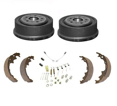 SET 2 X BRAKE DRUM + SHOES + FITTING KIT - JEEP CHEROKEE XJ 90-01 With 9  DRUMS • 109.90£