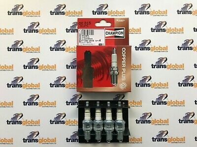 Spark Plugs X4 For Land Rover Series 2 2a 3 2.25L Petrol Champion RTC3570 • 18.85£
