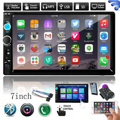 Bluetooth Car Radio Stereo 7 Inch Double 2DIN FM USB/MP5 Player Touch Screen TF • 36.99£