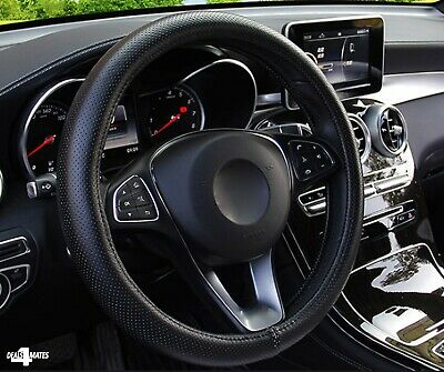 Car Steering Wheel Cover Protector Glove Universal Black Pu Perforated Leather • 6.89£