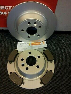 RANGE ROVER EVOQUE REAR BRAKE DISCS AND PADS 2.0 2.2 NEW COATED DESIGN (302mm) • 59.95£