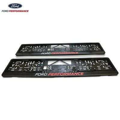 Cyber-Wear Ford Performance License Plate Holder Black Front & Rear Set Of 2 • 12.99£