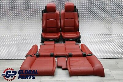 BMW E93 Cabrio M Sport Red Leather Interior Seats Electric Memory Door Cards • 599.99£