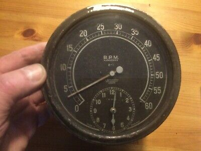 Vintage Smiths Rev Counter 1930s Rev Counter Works ,clock Needs Attention Read . • 400£