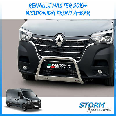 Misutonida Front Bull/ A-bar - 63mm - Stainless Steel For Renault Master 2019+ • 300£
