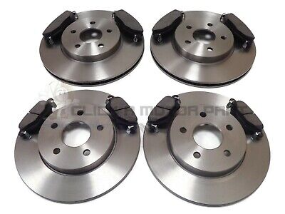 For Jaguar X Type 2.0 2.5 3.0 V6 2000-2004 Rear & Front New Brake Discs And Pads • 82.99£