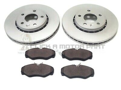 FOR NISSAN PRIMASTAR 1.9i 2.0 2.5 DCi 2002-2015 FRONT 2 BRAKE DISCS AND PADS SET • 58.95£