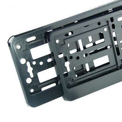 2 X  BLACK  EFFECT NUMBER PLATE HOLDER SURROUND FOR ANY CAR • 7.99£