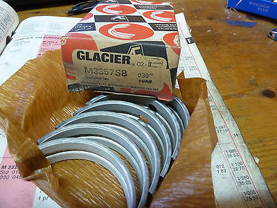 GLACIER M3357SB MAIN BEARINGS.030  FORD V4 101 & 122 120E 3010E 1663cc 1996cc • 30£