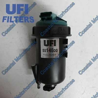 Fits Fiat Ducato 2.3 3.0 Multijet Complete Fuel Filter Housing With Filter UFI • 81.23£