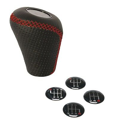 Sumex Race Sport Black & Red Lift Up Reverse Leather Gear Shift Stick Cover Knob • 16.99£