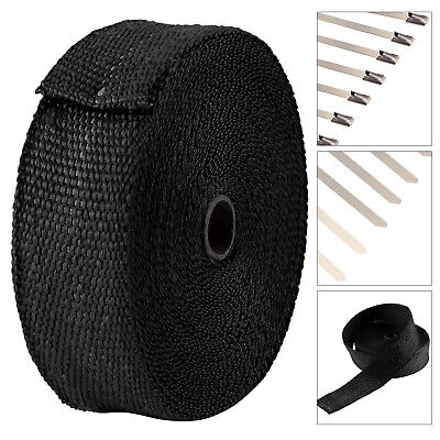 15M Titanium Exhaust Heat Wrap Manifold Downpipe High Temp Bandage Tape Roll UK • 8.99£