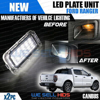 2x 18 SMD LED REAR NUMBER / LICENCE PLATE UNITS FORD RANGER White • 10.95£