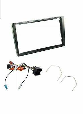 Vauxhall Stereo Double Din Facia Fascia Panel Surround Piano Black Fitting Kit • 18.99£
