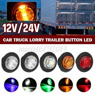 12V Car Truck Lorry Round LED Bullet Button Rear Side Mini Marker Lights   +- • 12.32£