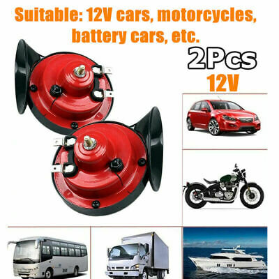 1 Pair 300DB Super Train Horn For Truck Car Boat Motorcycle 12V Electric Horn UK • 9.99£