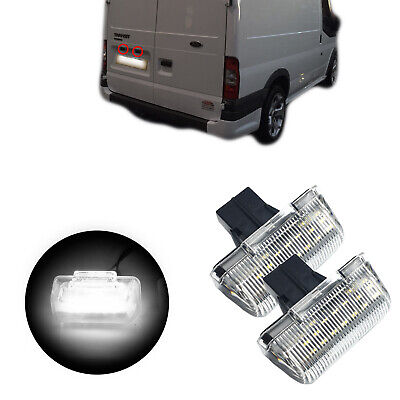 2 X Led License Plate Number Light For Ford Transit Mk6 Mk7 85-13, Connect 02-13 • 12.50£
