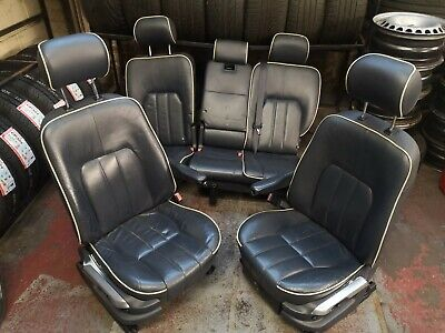 Range Rover L322 Seats Front Rear Blue With Cream Piping Electric • 220£