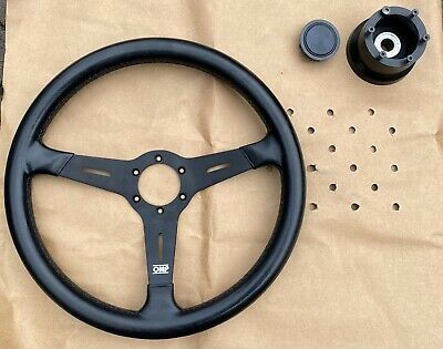 Land Rover Defender XS Leather Steering Wheel 48 Spline DELIVERY MILES Rip Torn • 135£