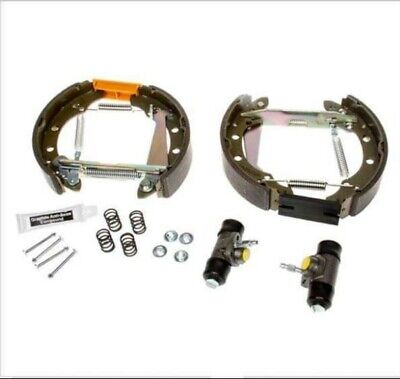 REAR BRAKE SHOE COMPLETE KIT (Pre-assembled) FOR VW POLO (6N2) 1999-2001 • 30£